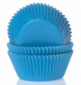 House of Marie House of Marie Baking Cups Cyaan blauw - pk/50