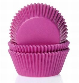 House of Marie Baking Cups Fuchsia Roze - pk/50