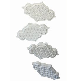 PME Creative Plaque Inserts set/4-Trellis Quilted