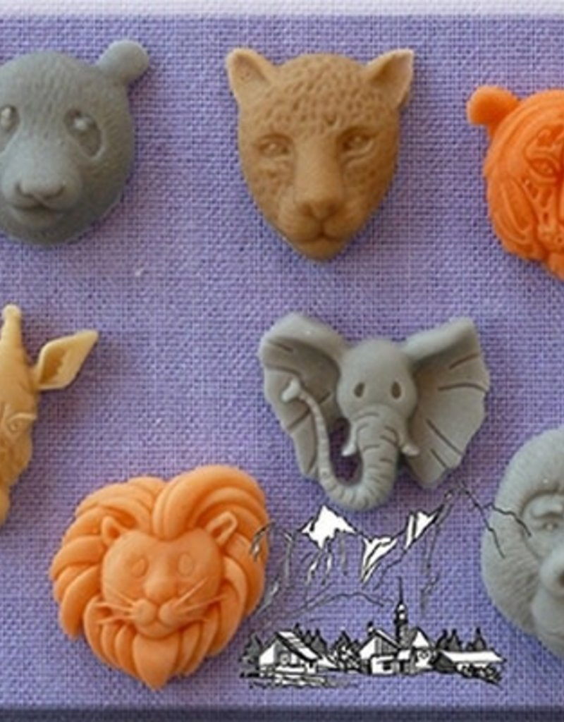 Alphabet Moulds Small Animal Heads