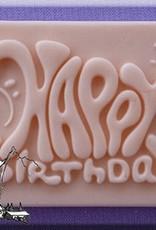 Alphabet Moulds Happy Birthday Plaque