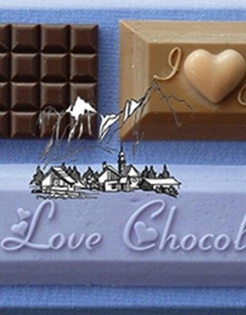 Alphabet Moulds I Love Chocolate