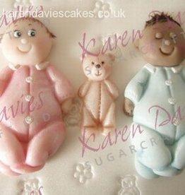Karen Davies Karen Davies Siliconen Mould - Baby & Teddy