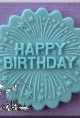 Alphabet Moulds Cupcake Topper Happy Birthday with Firework