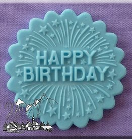 Alphabet Moulds Alphabet Moulds Cupcake Topper Happy Birthday with Firework