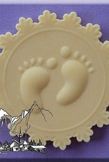 Alphabet Moulds Baby Feet Cupcake Topper
