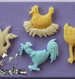 Alphabet Moulds Farm Birds