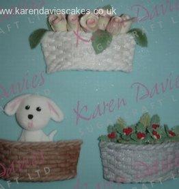 Karen Davies Karen Davies Siliconen Mould - Basket