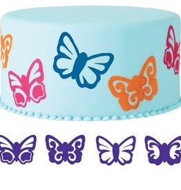 Wilton Wilton Butterfly Cake Stamp Set/4