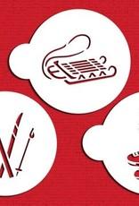 Designer Stencils Designer Stencils Winter Sports Set/3
