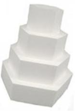 Taart Dummie Hexagon 12,5 x 7 cm