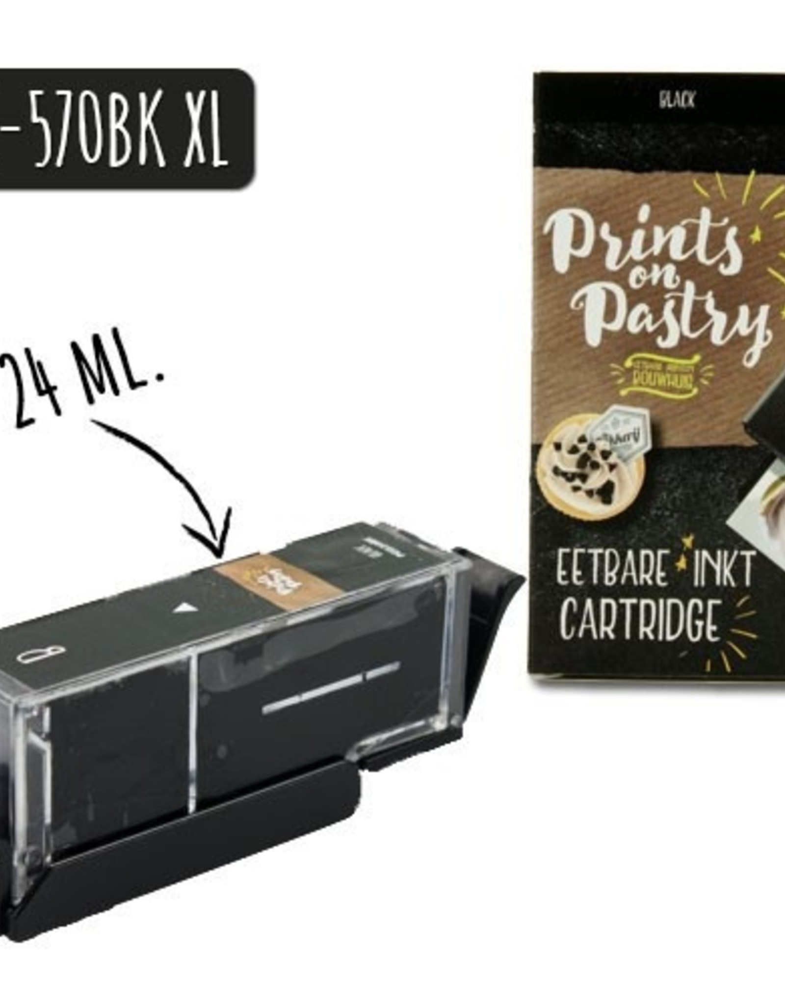 Prints on Pastry Eetbare Inkt Cartridge Zwart XL (PGI-570BK)