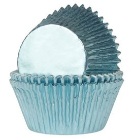 House of Marie House of Marie Mini Baking Cups Folie Baby Blauw pk/36