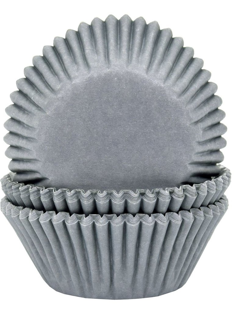 House of Marie House of Marie Baking Cups Grijs pk/50