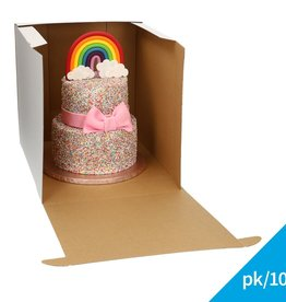 Fun Cakes FunCakes Taartdoos - Wit 32x32x32cm pk/10