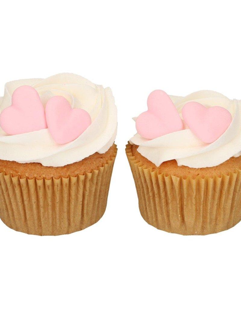 Fun Cakes FunCakes Suikerdecoratie Hart Roze Set/8