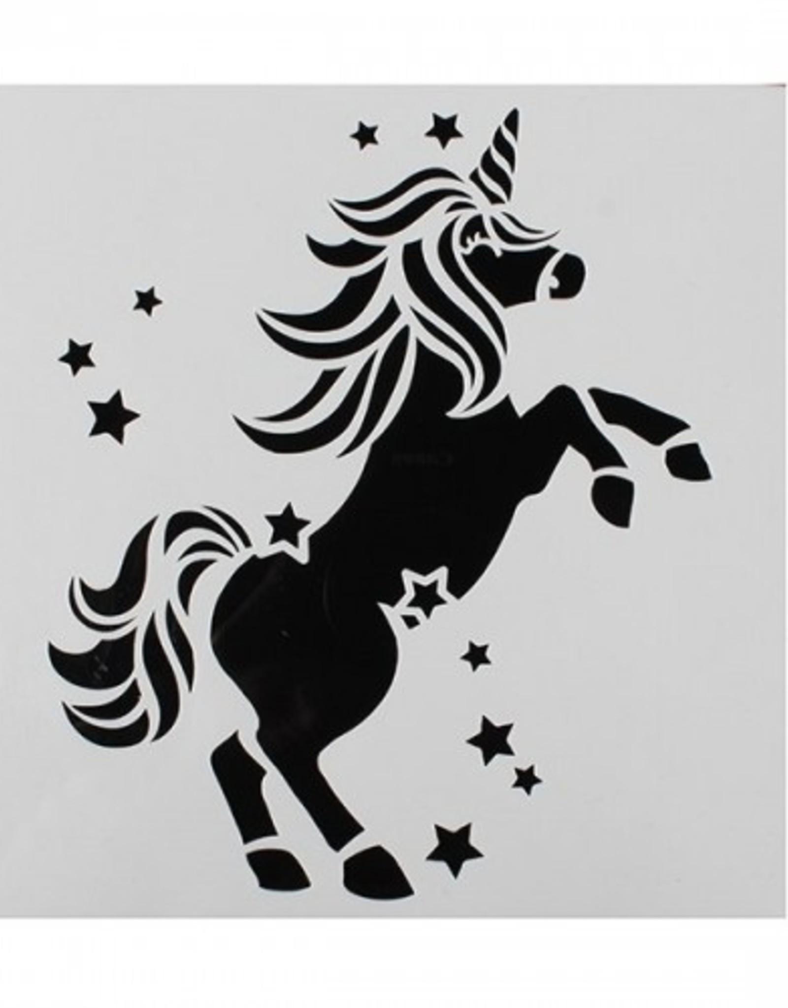 Cake Star Cake Star Sjabloon Unicorn/Eenhoorn