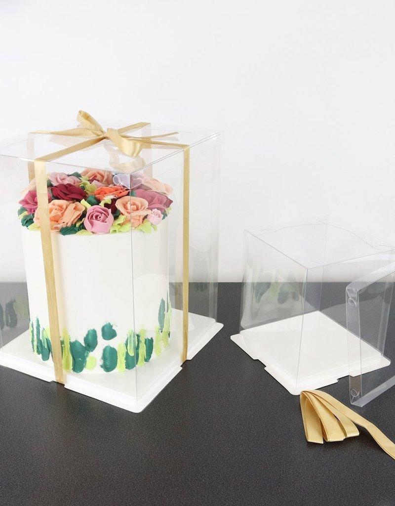 PME PME Transparante Taartdoos Vierkant 30cm
