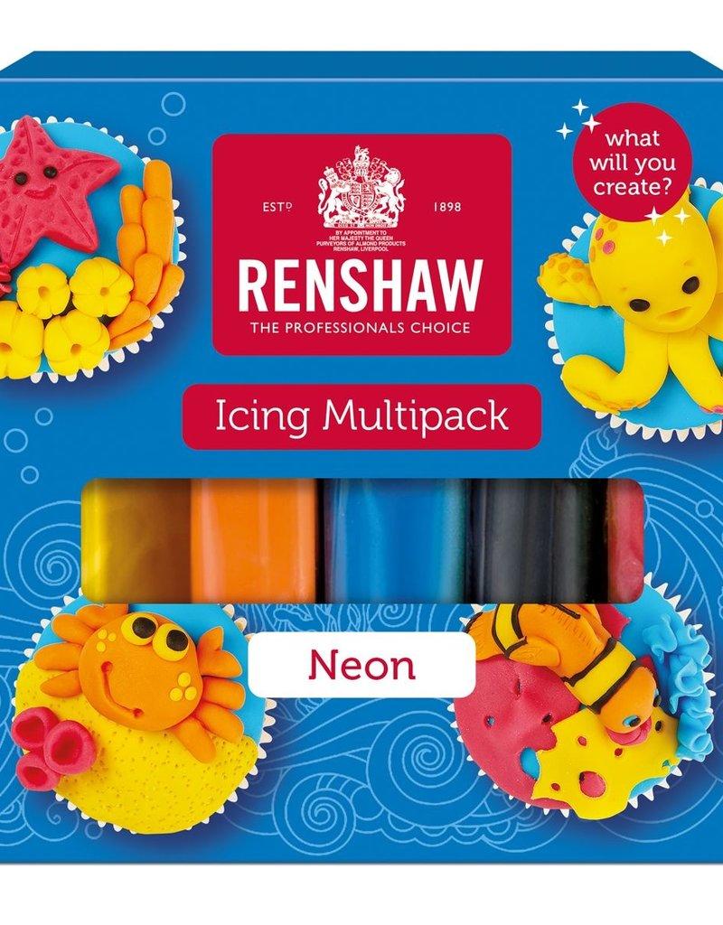 Renshaw Renshaw Rolfondant Pro Multipack -Neon Colours- 5x100g