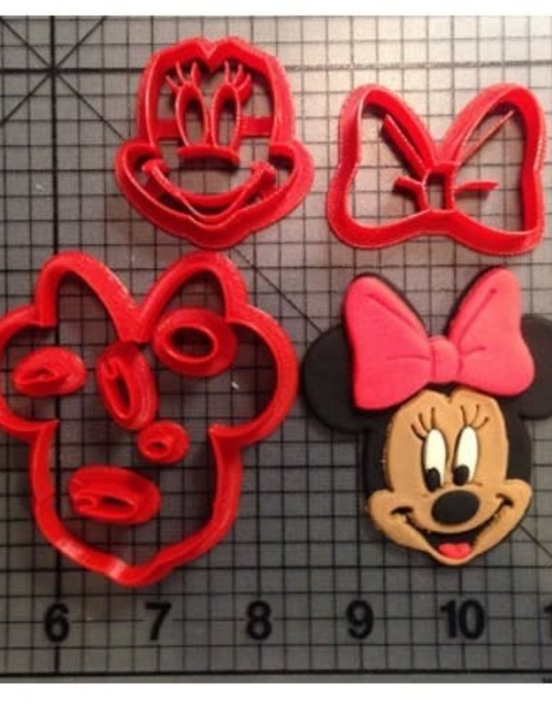 Overig Koekjes uitsteker Minnie Mouse Ø50mm 7-delig