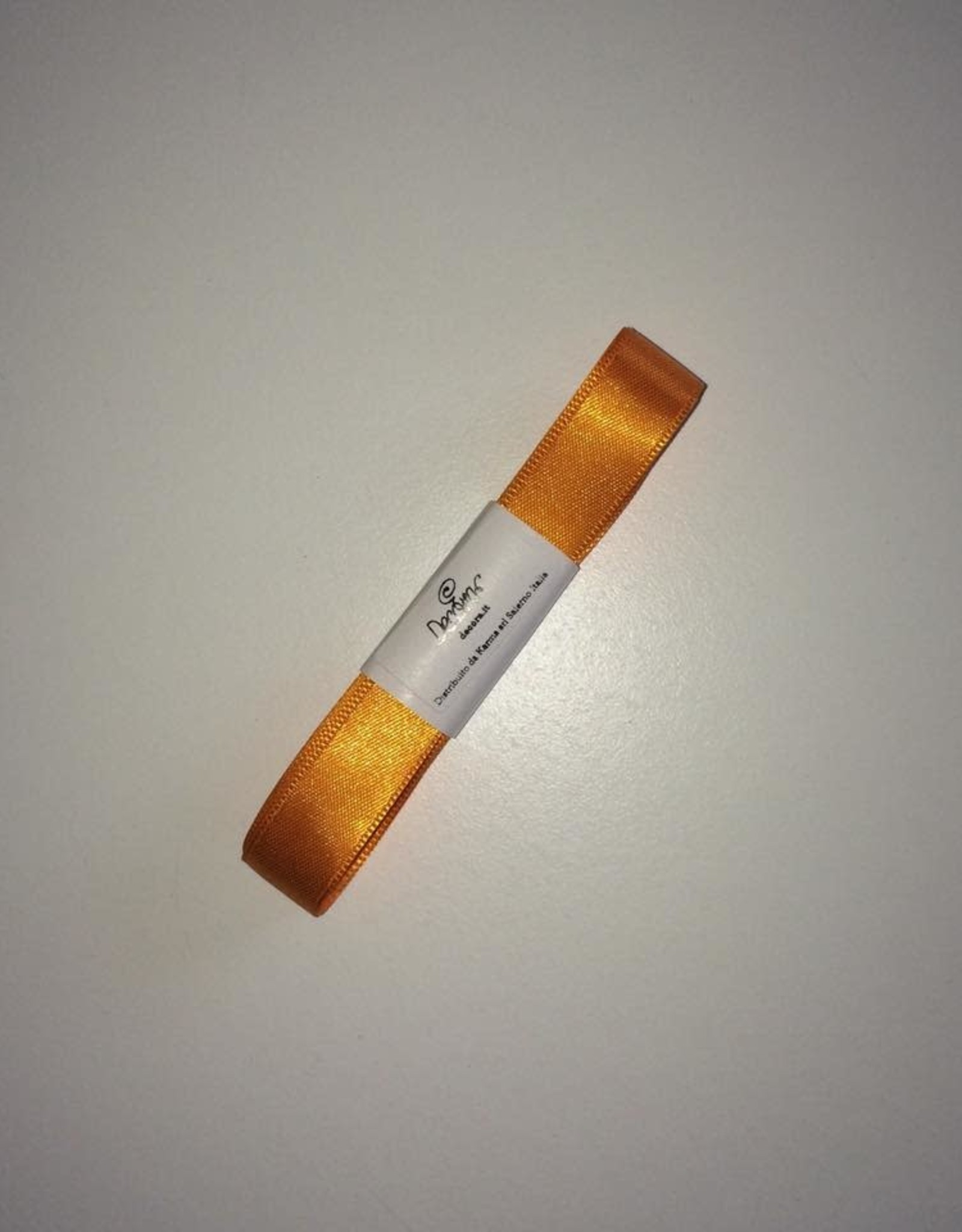 Double Satin Ribbon 15mm x 25mtr Orange op Grote Rol