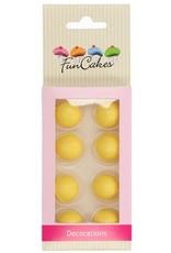 FunCakes FunCakes Choco Balls Yellow Ochre Set/8