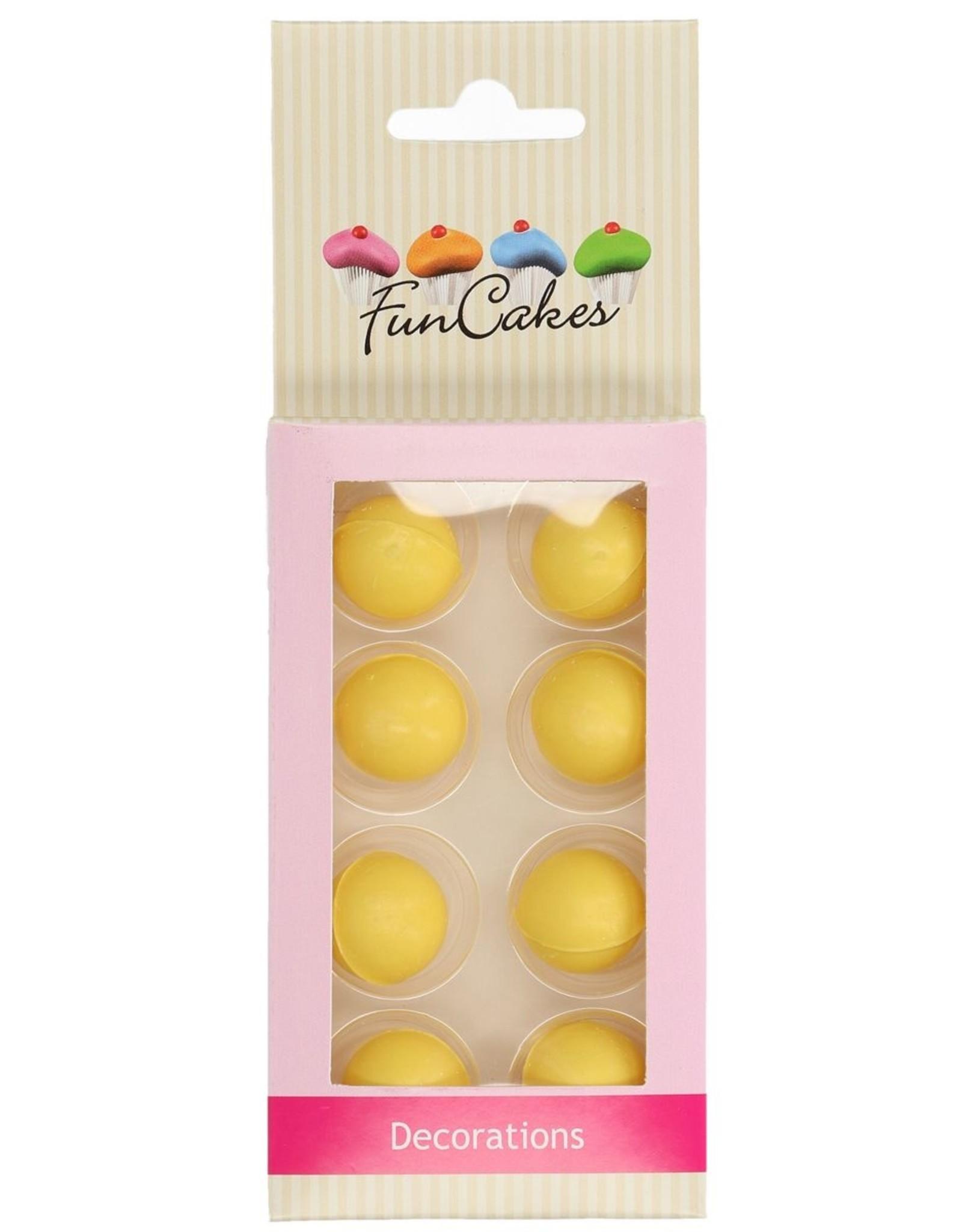 FunCakes FunCakes Chocoballetjes Geel Set/8
