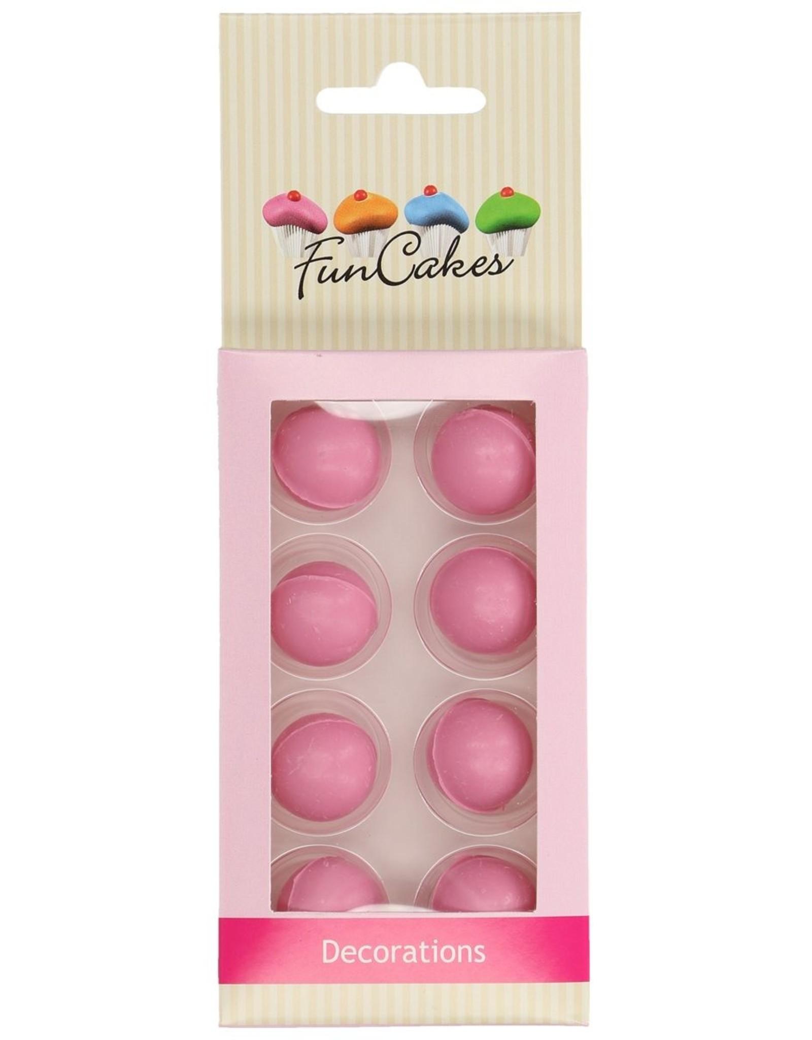 FunCakes FunCakes Chocoballetjes Roze Set/8