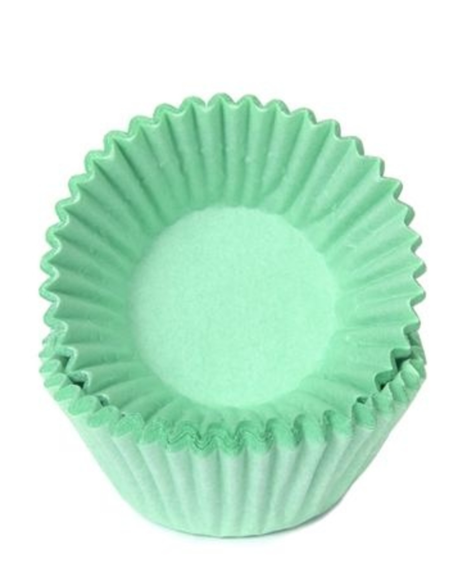 House of Marie House of Marie Chocolade Baking Cups Pastel Mint pk/100