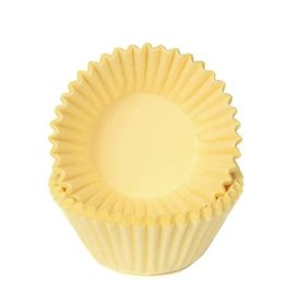 House of Marie House of Marie Chocolade Baking Cups Pastel Geel pk/100