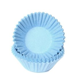 House of Marie House of Marie Chocolade Baking Cups Pastel Blauw pk/100