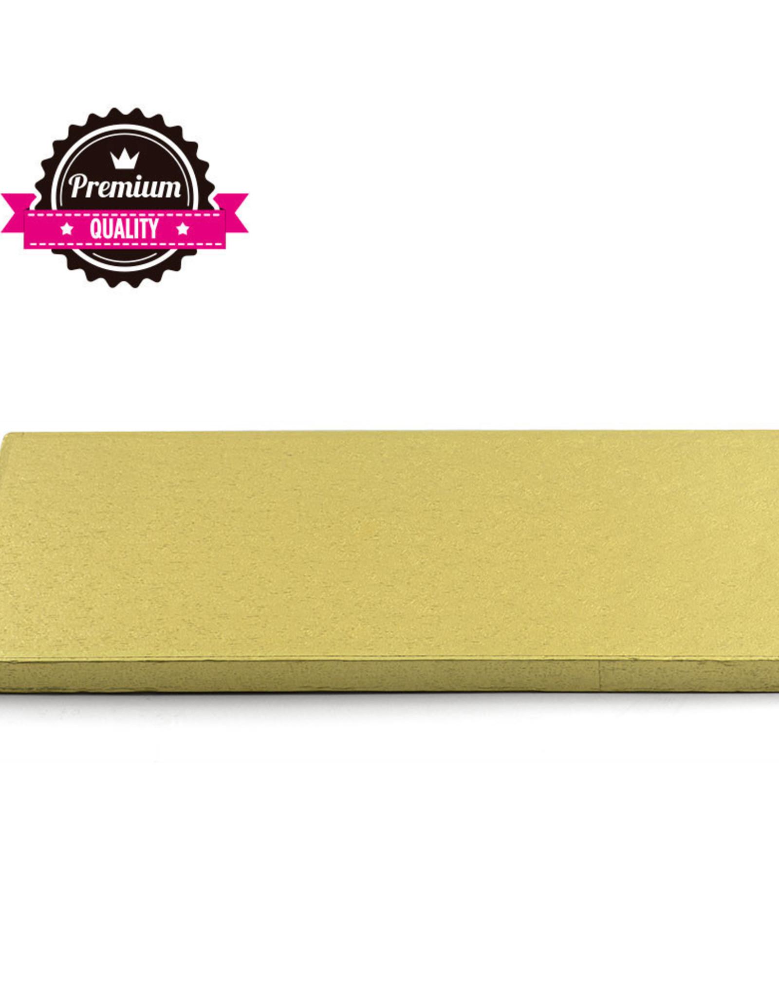 Cake Drum Rechthoek 50x40cm Gold