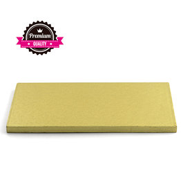 Decora Cake Drum Rechthoek 40x30cm Gold