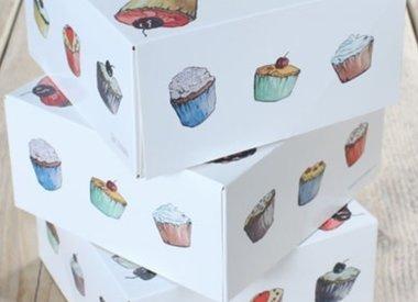 Cupcake en Macaron doosjes