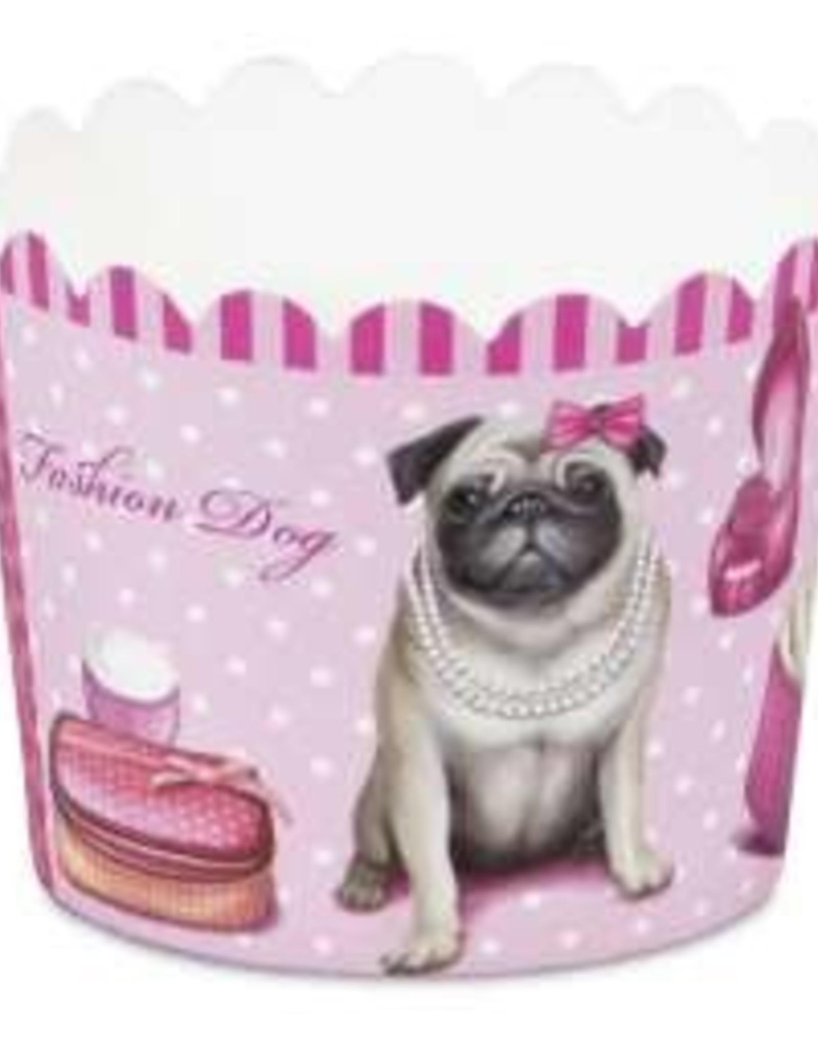 Städter Städter Cupcakepapiertjes Fashion Dog Mini/12