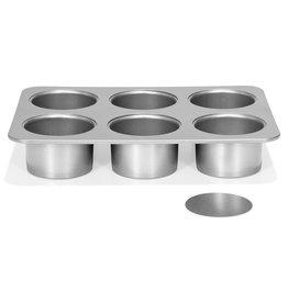 Patisse Patisse Silver-Top Mini Cheesecakevorm Losse bodem 6 vaks Ø8