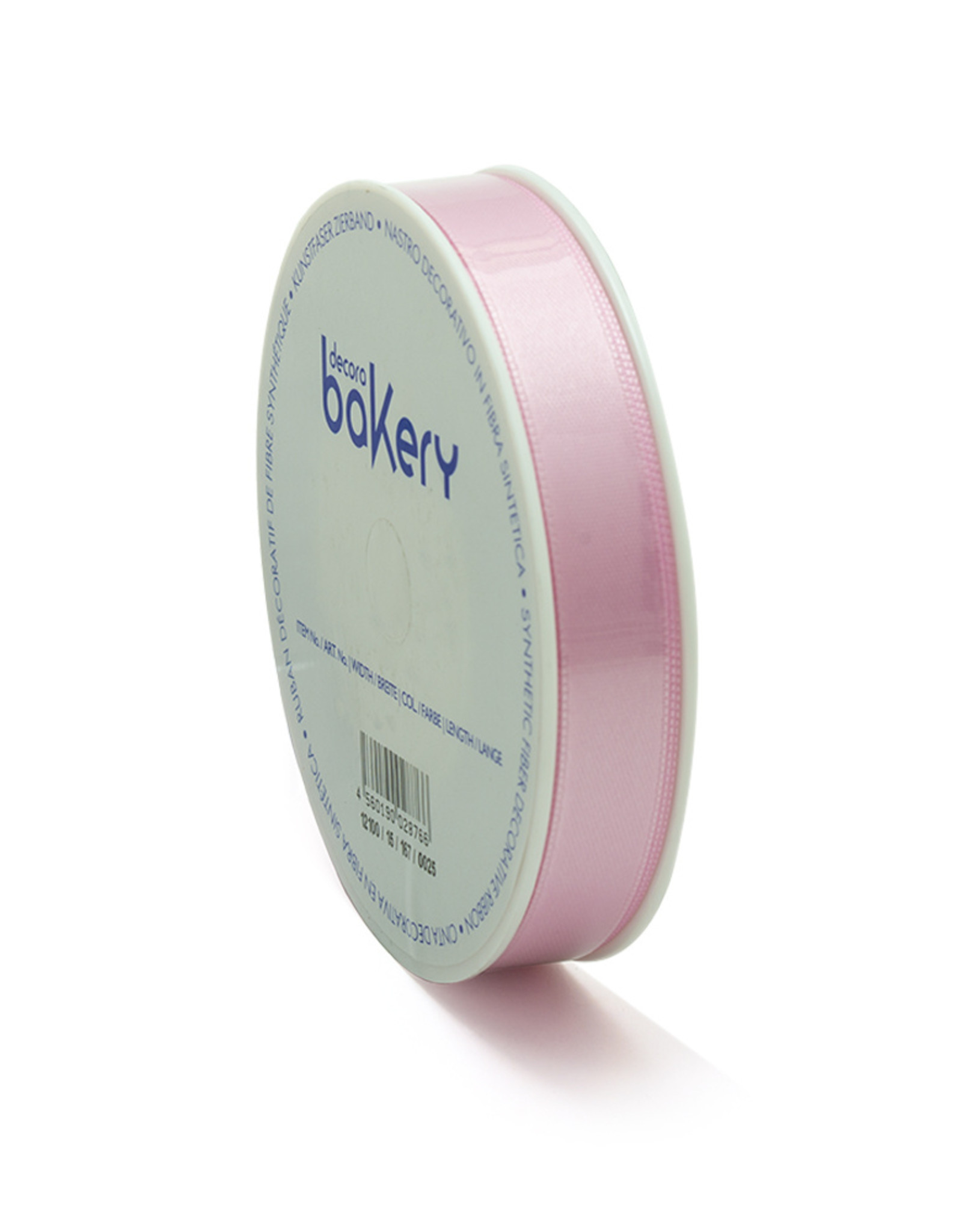 Double Satin Ribbon 15mm x 25mtr Baby Pink op Grote Rol