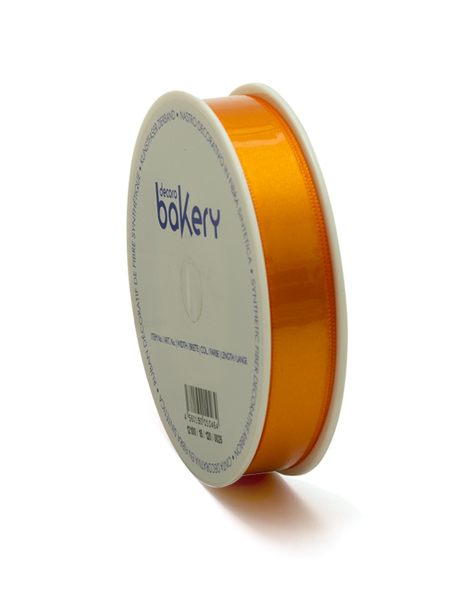 Double Satin Ribbon 15mm x 25mtr Orange op Grote Rol