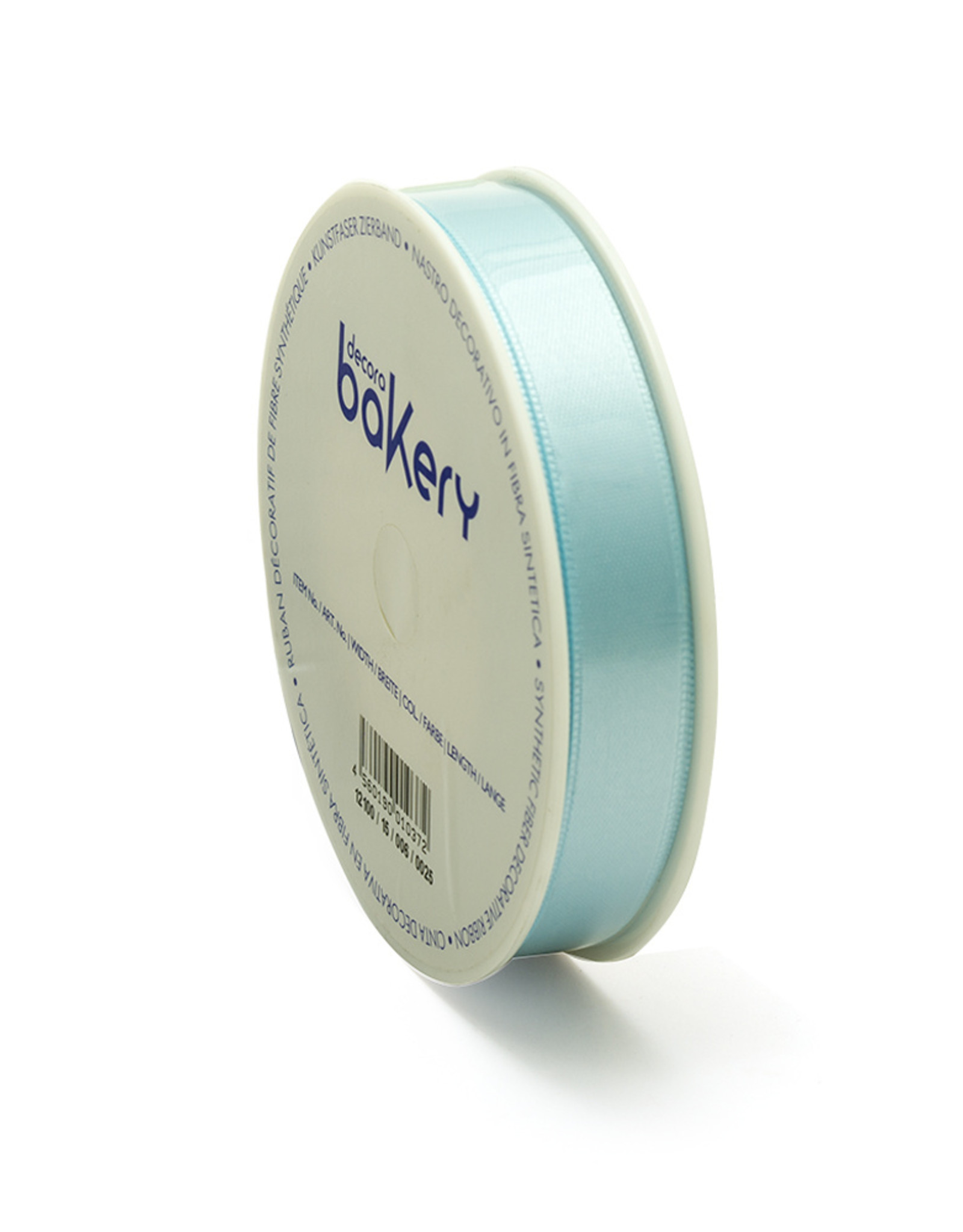 Double Satin Ribbon 15mm x 25mtr Baby Blue op Grote Rol