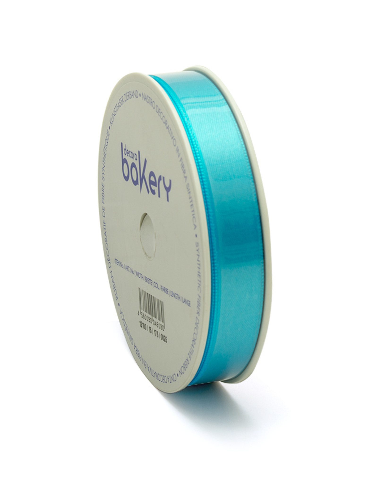 Double Satin Ribbon 15mm x 25mtr Turquoise op Grote Rol