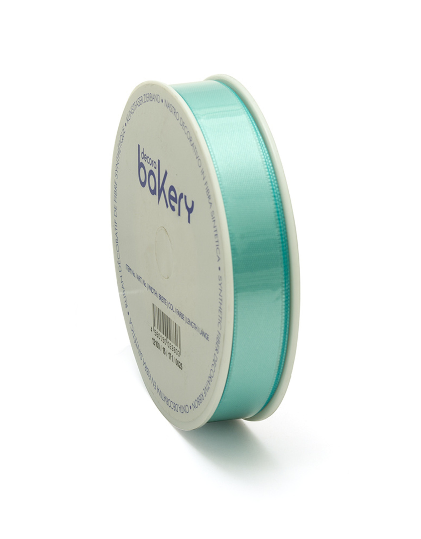 Double Satin Ribbon 15mm x 25mtr Teal Blue op Grote Rol