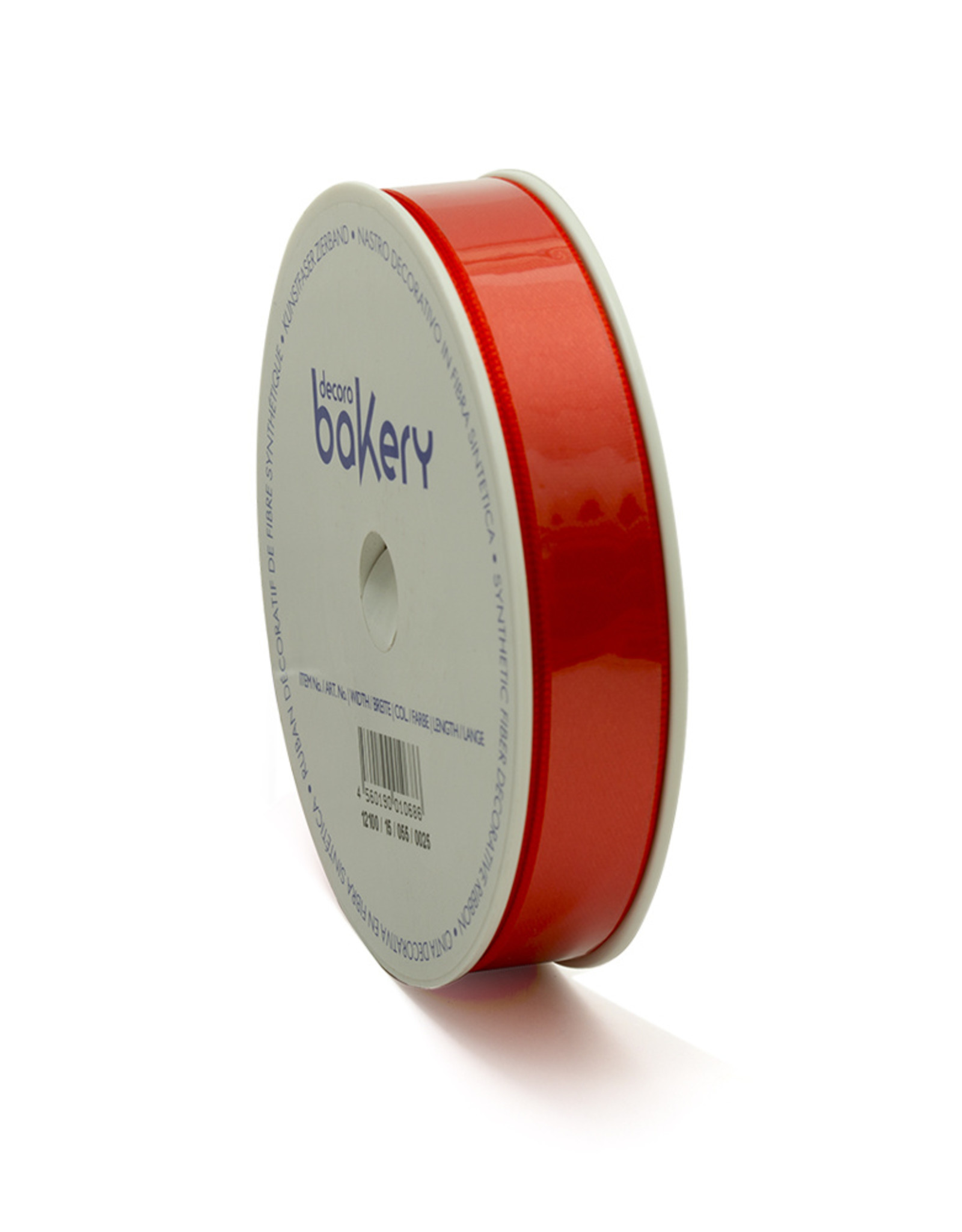 Double Satin Ribbon 15mm x 25mtr Coral Red op Grote Rol