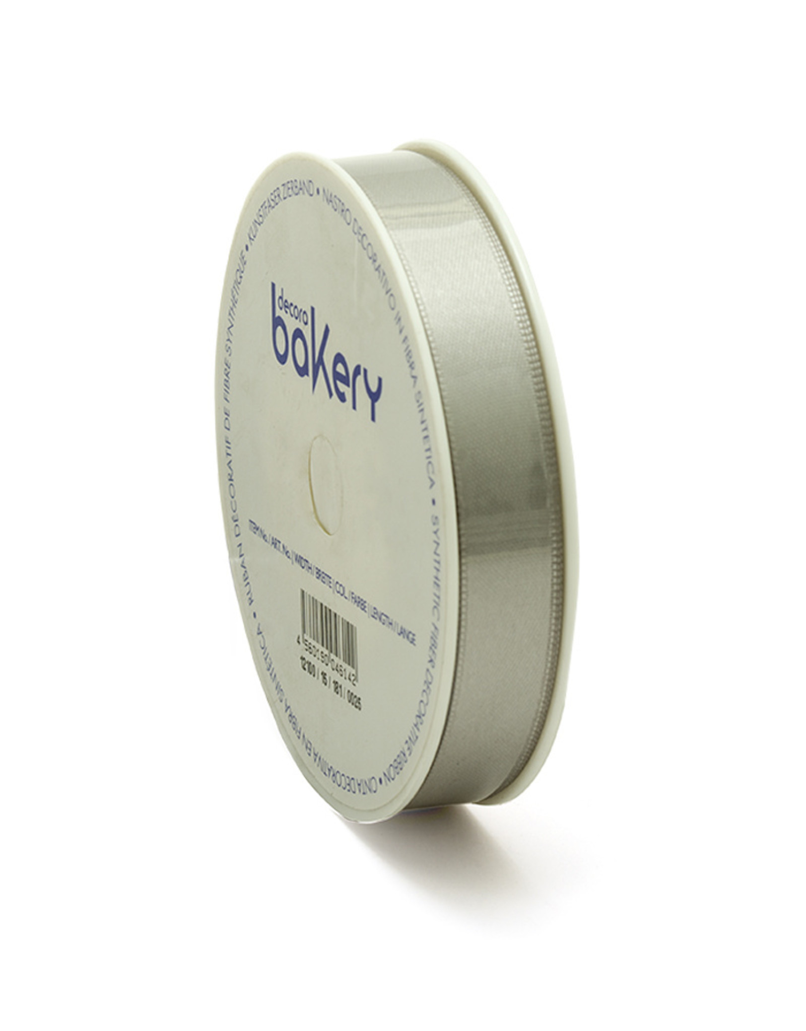 Double Satin Ribbon 15mm x 25mtr Silver op Grote Rol