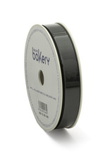 Double Satin Ribbon 15mm x 25mtr Black op Grote Rol