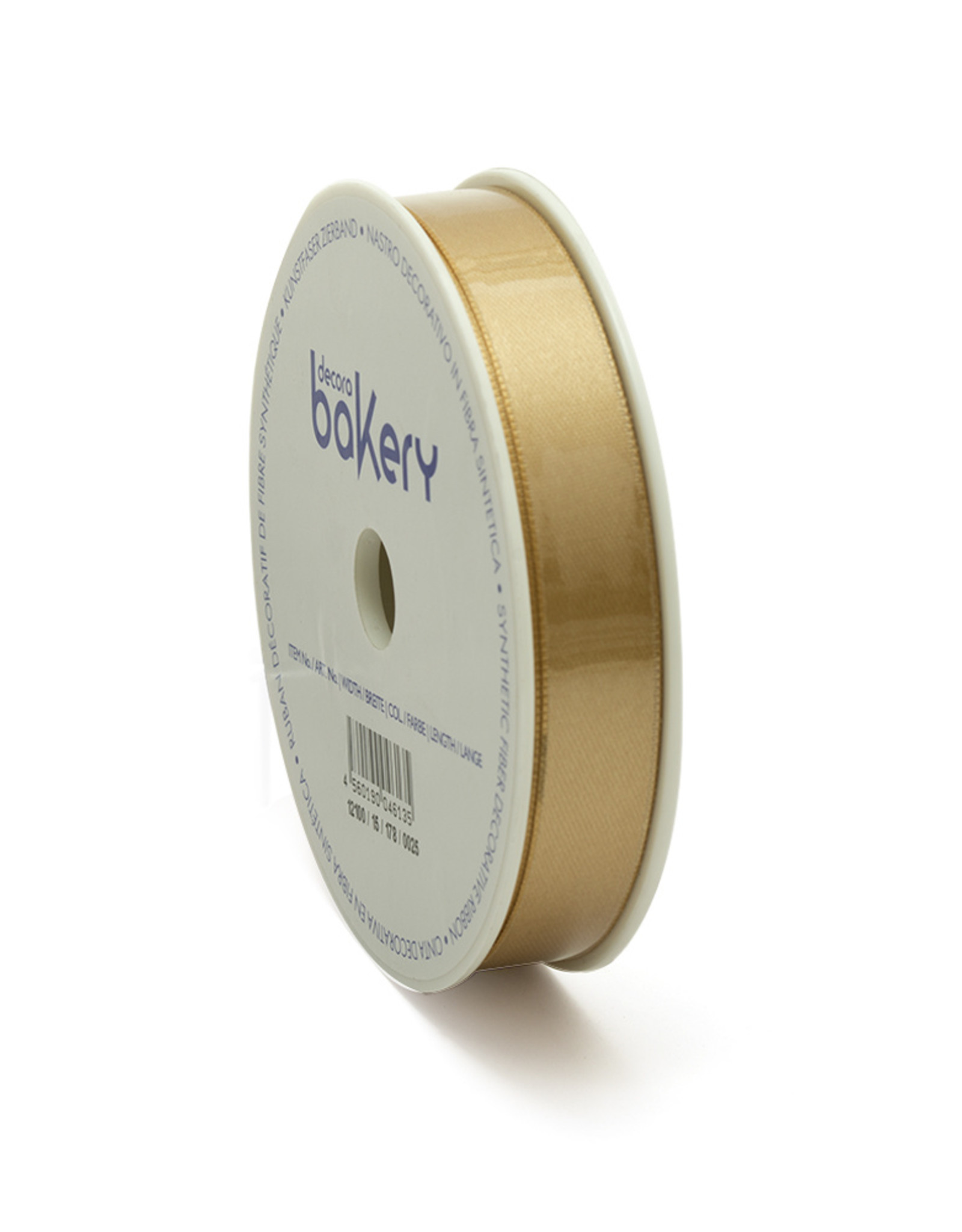 Double Satin Ribbon 15mm x 25mtr Gold op Grote Rol