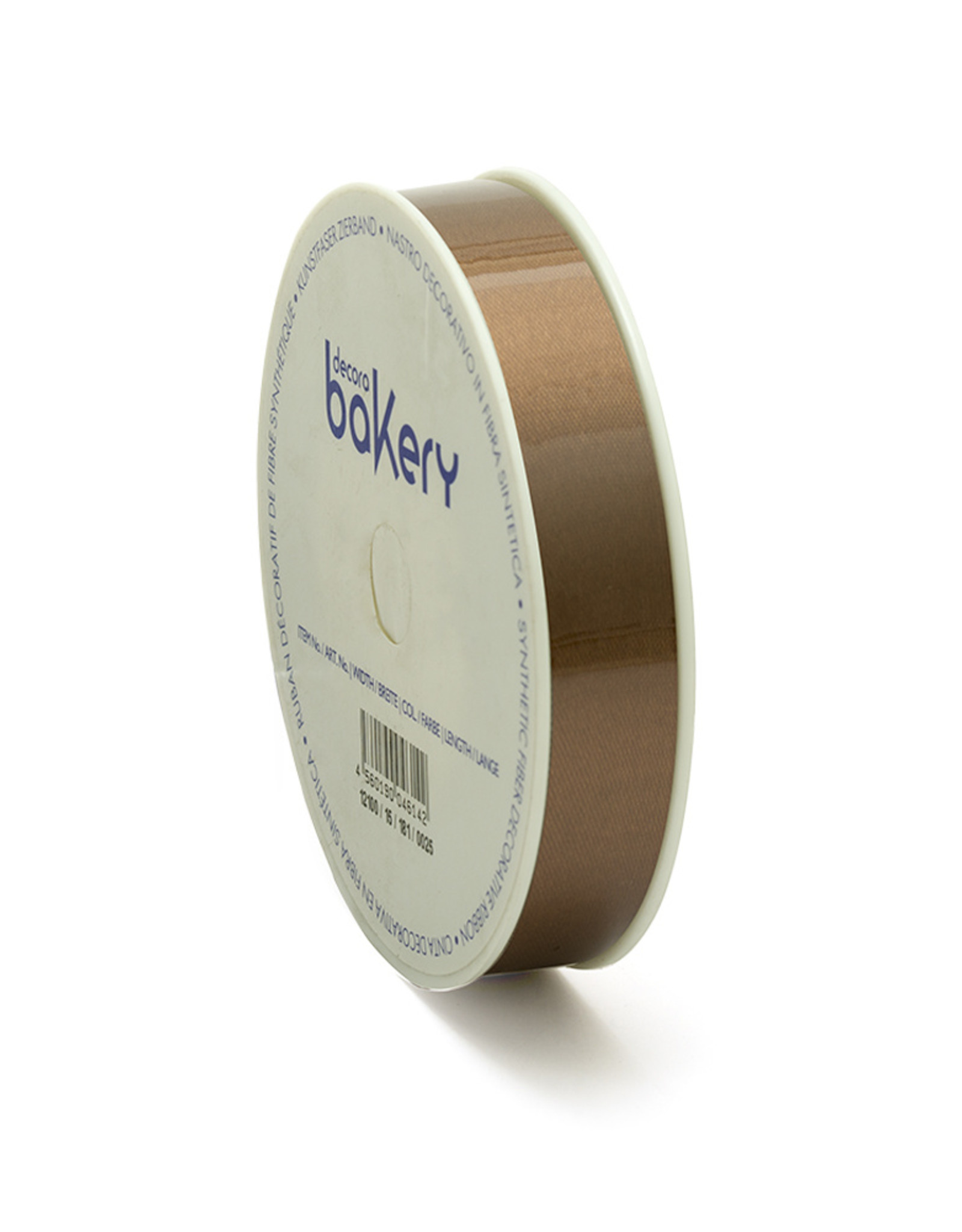 Double Satin Ribbon 15mm x 25mtr Brown op Grote Rol