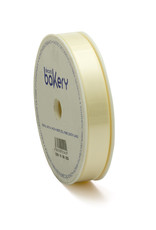 Double Satin Ribbon 15mm x 25mtr Cream White op Grote Rol