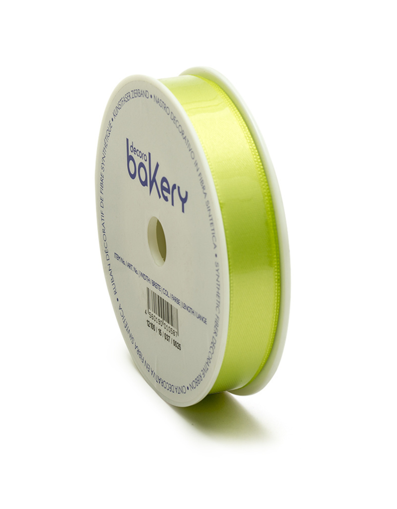 Double Satin Ribbon 15mm x 25mtr Apple Green op Grote Rol