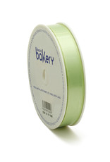 Double Satin Ribbon 15mm x 25mtr Light Green op Grote Rol