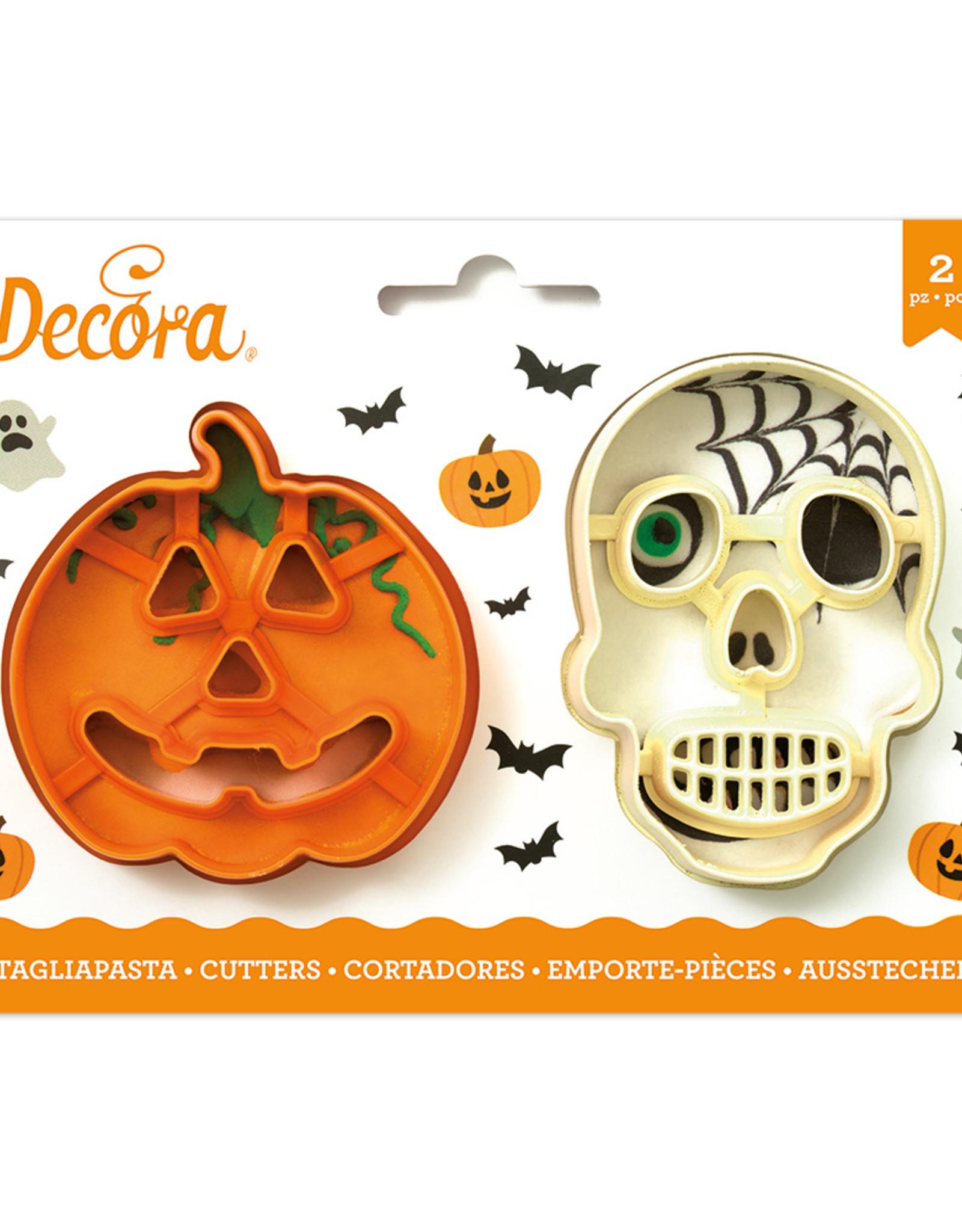Decora Decora Uitsteker Set Halloween Pompoen en Schedel/2
